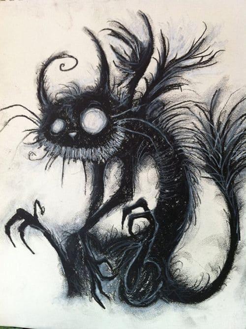 котов карандашный рисунок