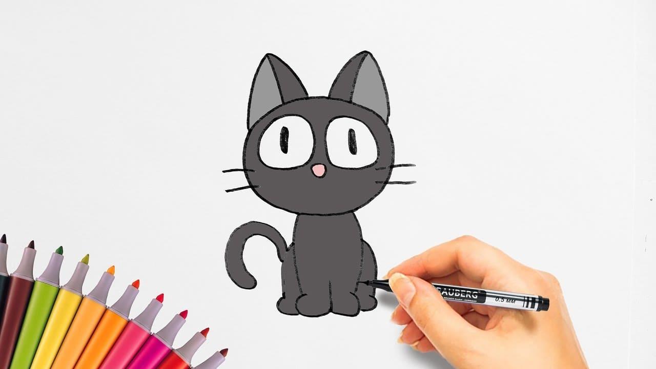 de gatos para dibujar. ¡Más de 100 fotos! Descargue gratis