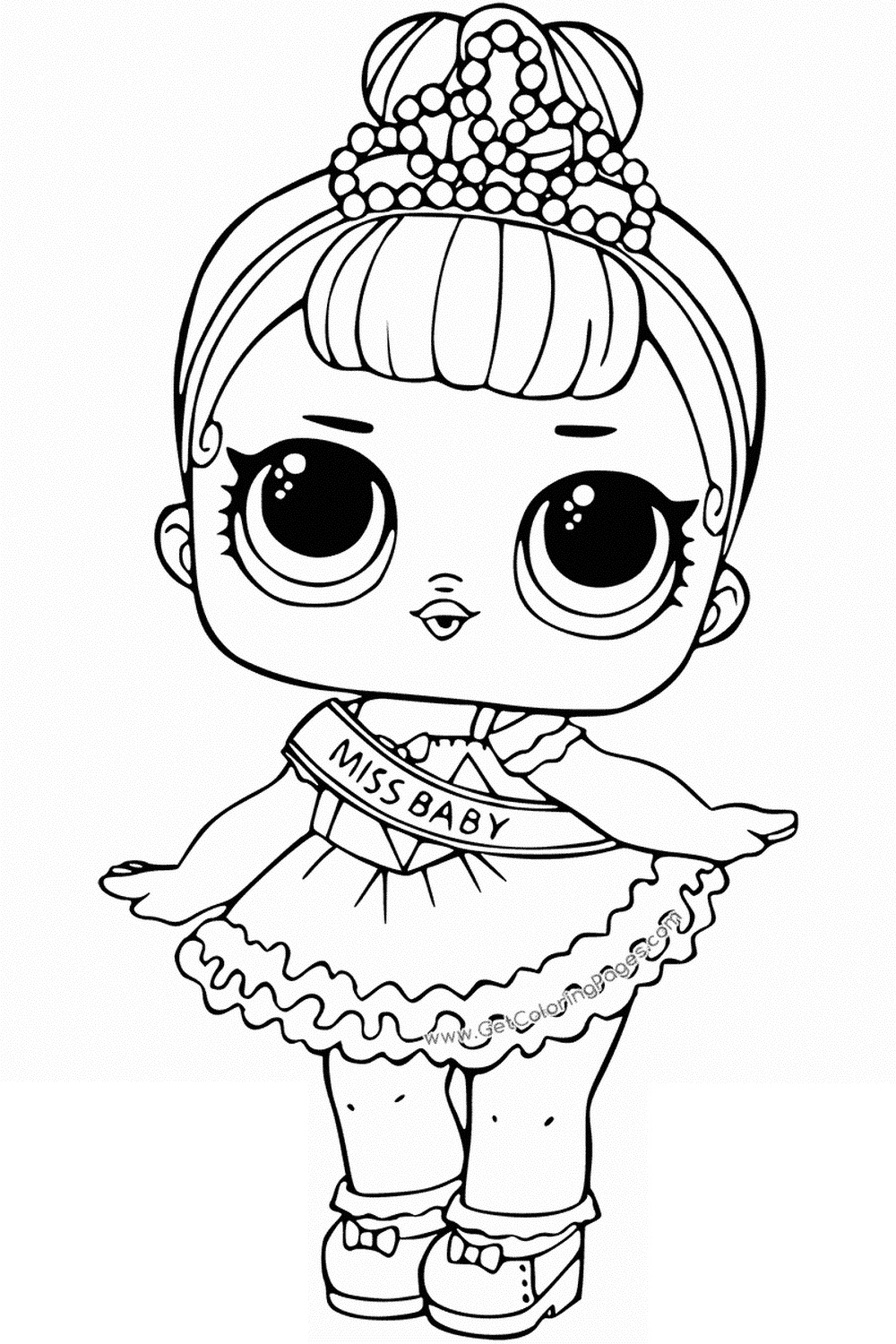 Coloring pages of lol surprise dolls 80 pieces of black and white pictures