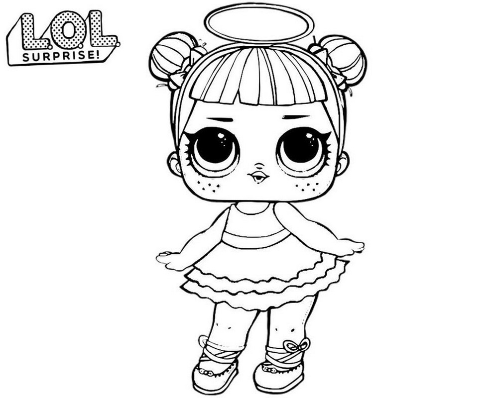 Coloring Pages of LOL Surprise Dolls 80 Pieces of Black