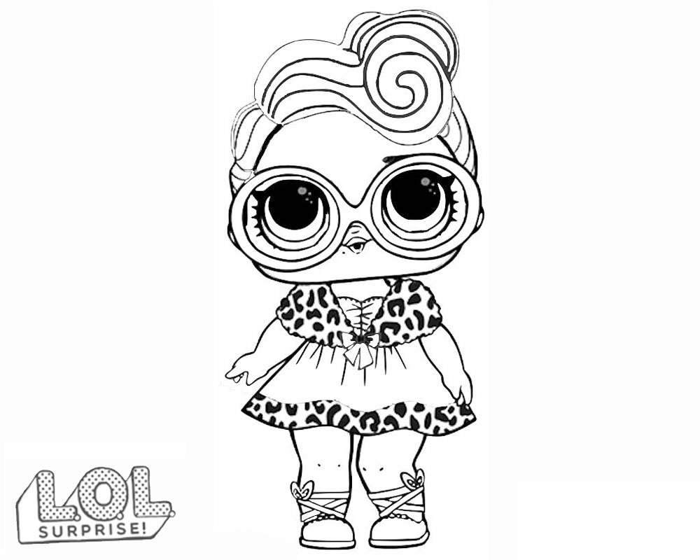 Coloring Pages Of Lol Surprise Dolls 80 Pieces Of Black And White
