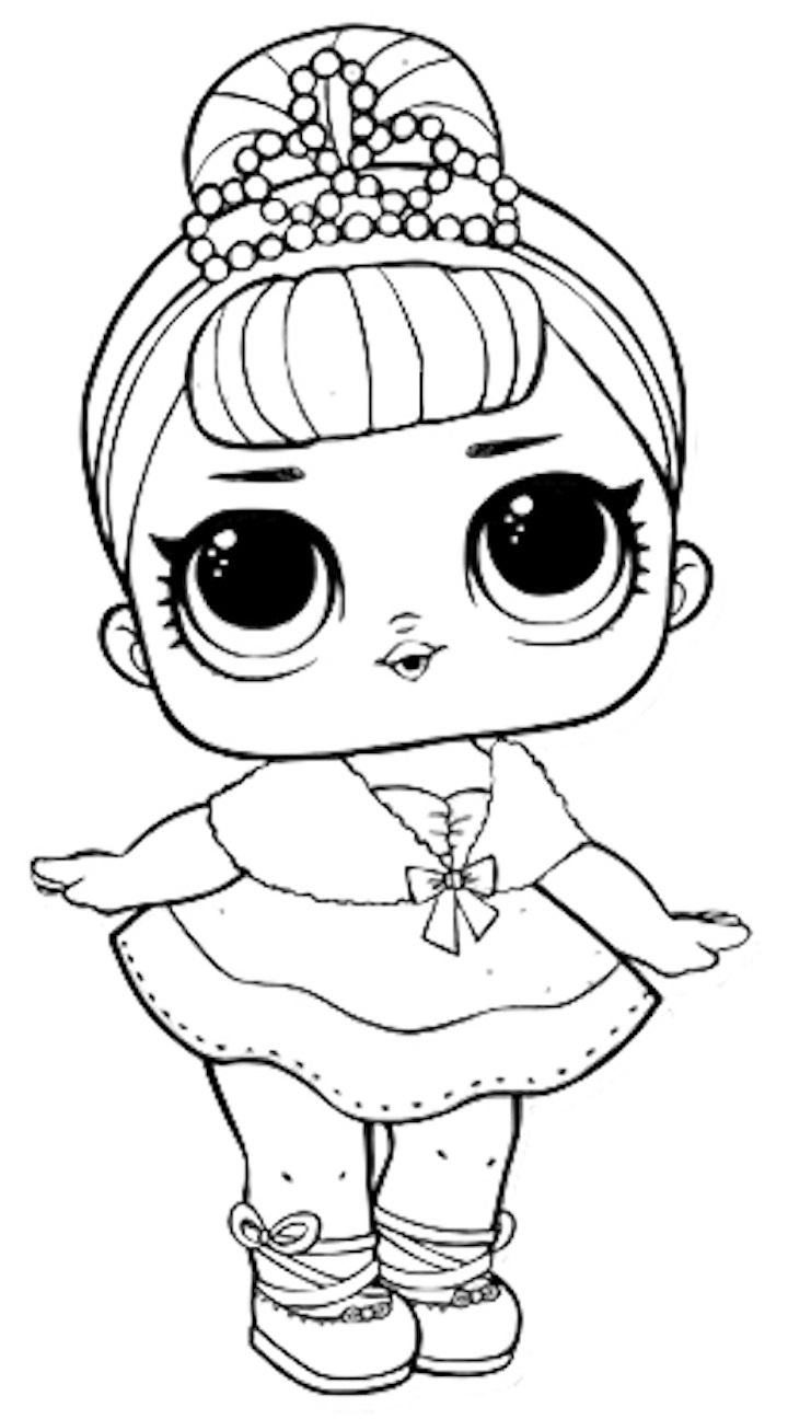 Coloring Pages of LOL Surprise Dolls. 80 Pieces of Black ...