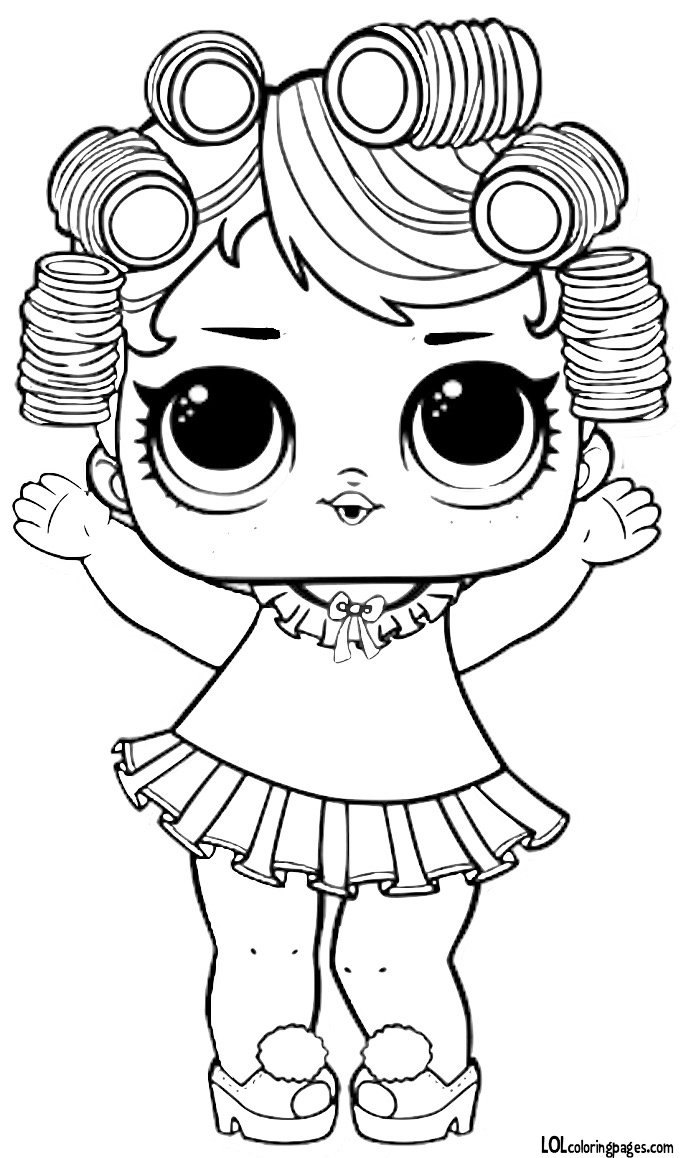 Coloring Pages of LOL Surprise Dolls. 80 Pieces of Black and White Pictures