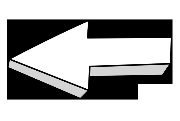 Weiße Pfeile in PNG auf transparentem Hintergrund