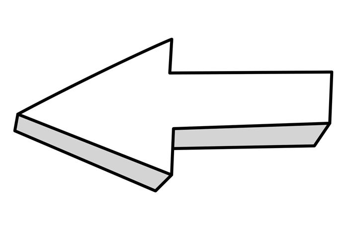 Flechas blancas en PNG sobre fondo transparente