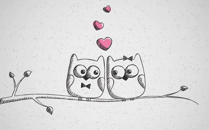 Нарисованные картинки любви. 150 романтичных рисунков