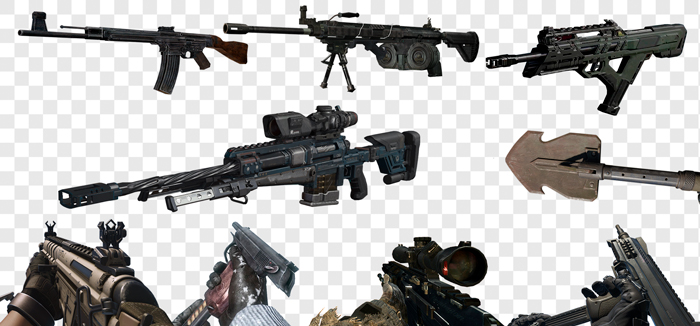 Call of Duty Weapons in PNG on Transparent Background
