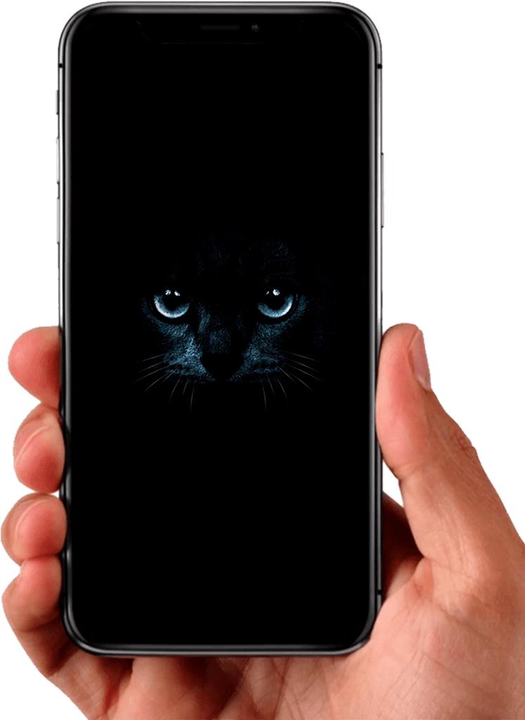 Fond d'écran noir pour votre téléphone