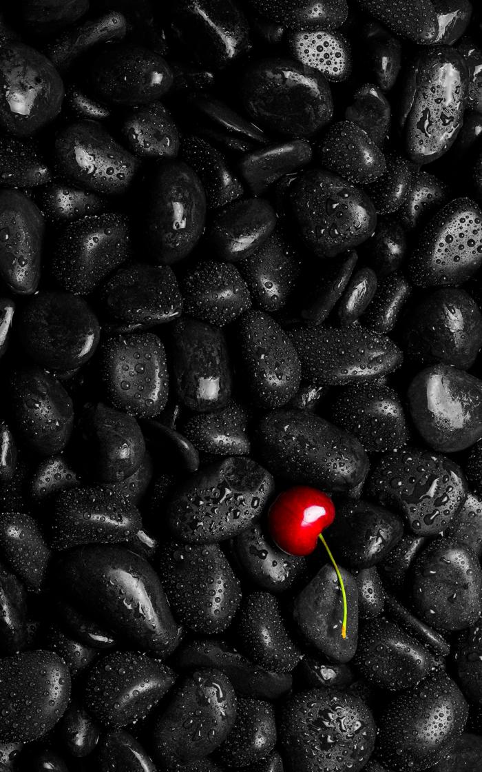 Černá tapeta pro váš telefon