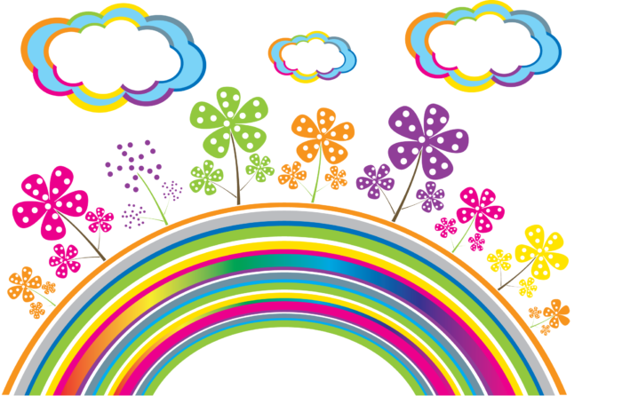 Imágenes PNG de arco iris sobre fondo transparente
