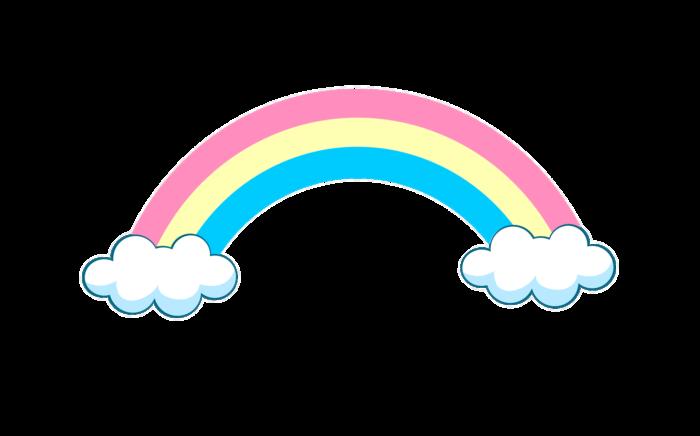 Imagens do arco-íris em PNG em um fundo transparente. 100 clipart grátis
