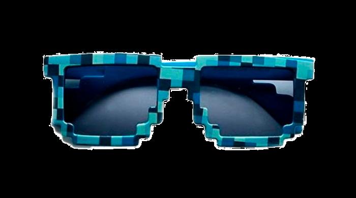 Pixel óculos de sol PNG em fundo transparente