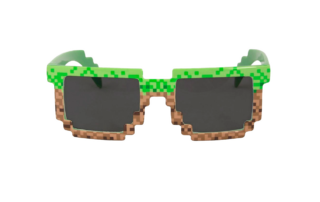 Pixel Sunglasses PNG on Transparent Background - Free Cliparts