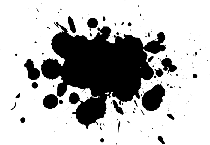 Salpicos, manchas e borrões em fundo transparente no formato PNG