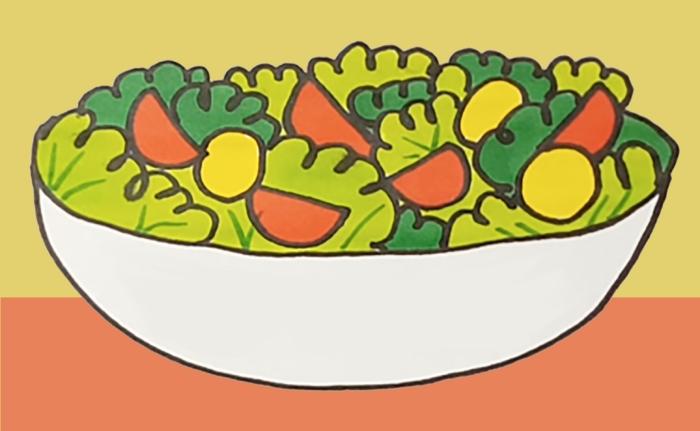 Lebensmittel Zeichnungen für Skizzen - 100 Zeichenideen