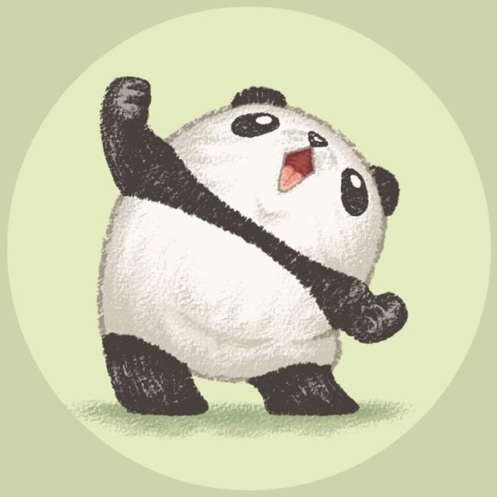 Panda obrázky pro kreslení - 100 kreseb pro náčrtky