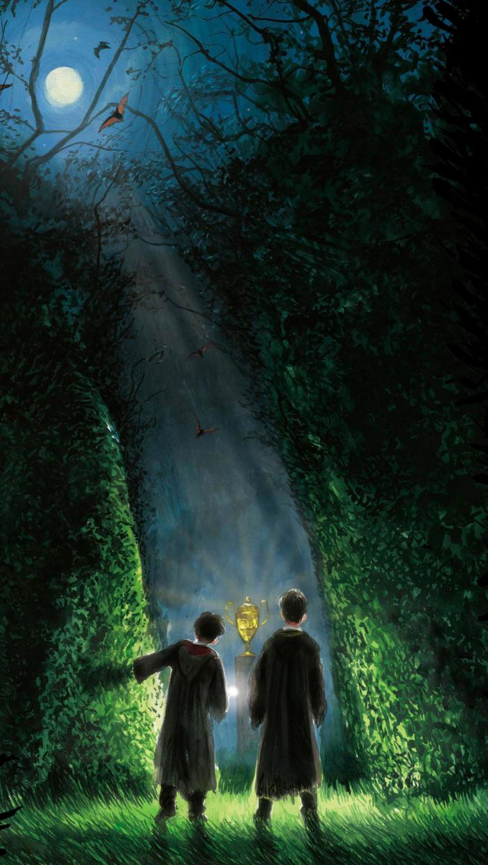 Hintergrundbild basierend auf der Harry Potter-Serie für Smartphone