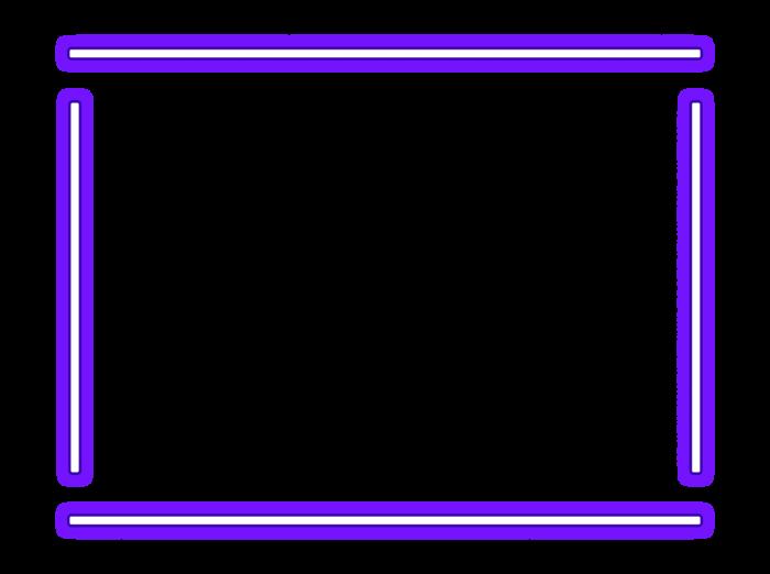 Неоновые рамки PNG на прозрачном фоне - 100 изображений