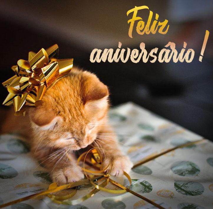 Imagens de Feliz aniversário para do gato - 50 cartões grátis