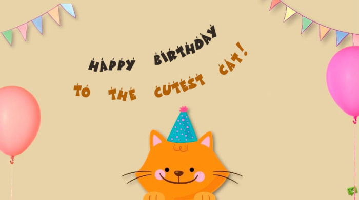 Happy Birthday to The Cat Pictures - 50 Greeting Cards For Free