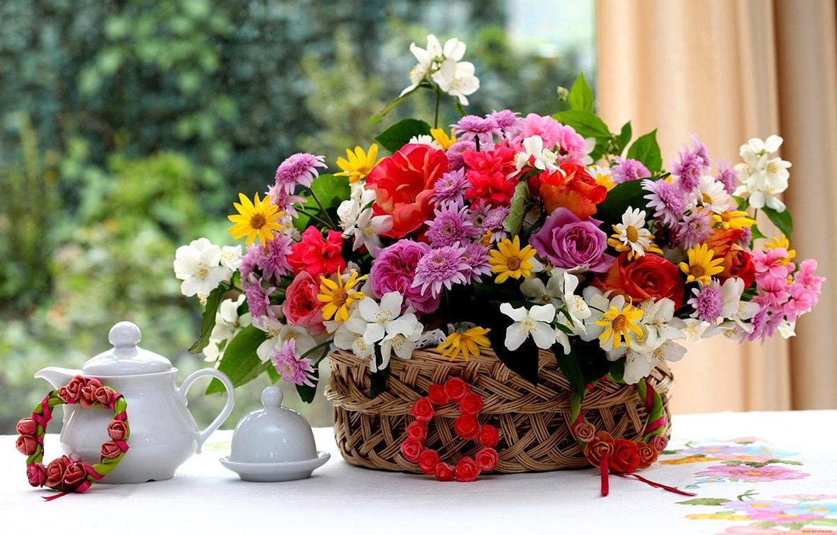 Широкие картинки с цветами