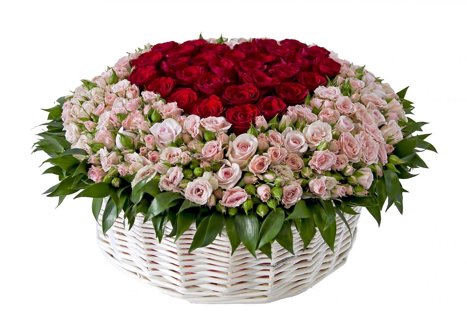 Открытка шикарный букет роз