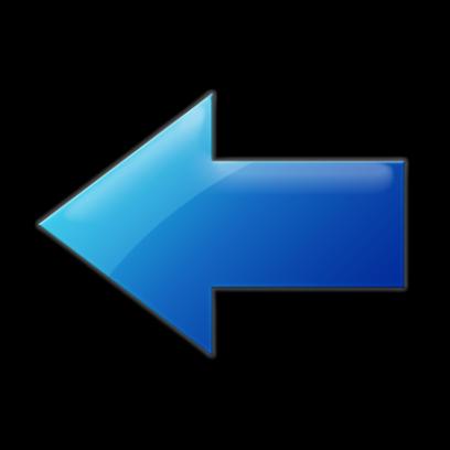 Синие, голубые стрелки в PNG на прозрачном фоне бесплатно